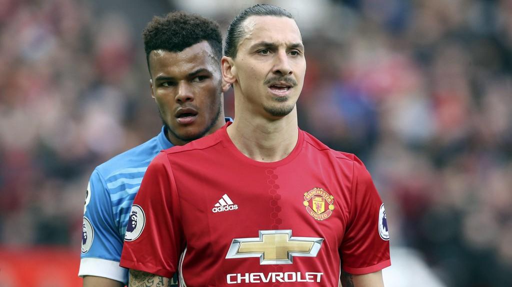 SUSPENDERES: Zlatan Ibrahimovic er utestengt i tre kamper for å plante albuen i ansiktet på Tyrone Mings.
