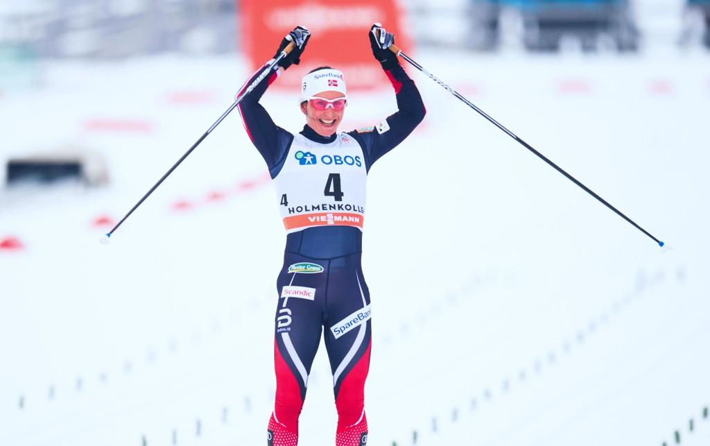 UTKLASSING: Marit Bjørgen vant en 30 kilometer i Holmenkollen for sjette gang i karrieren. Kampen om seieren i rennet ble aldri spennende.