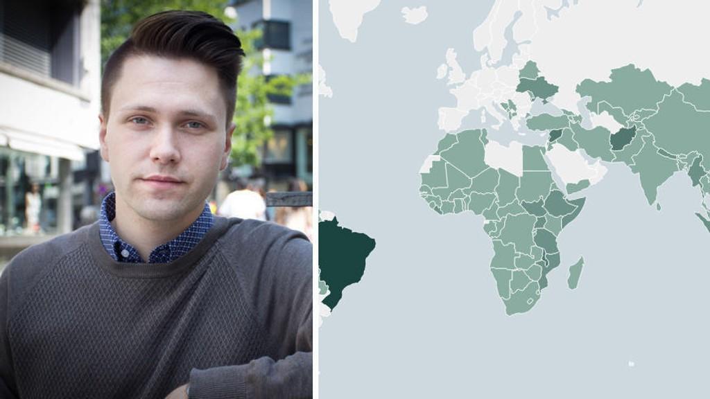Bjørn-Kristian Svendsrud FpU vil stoppe bistand til land som Norge ikke har returavtale med.