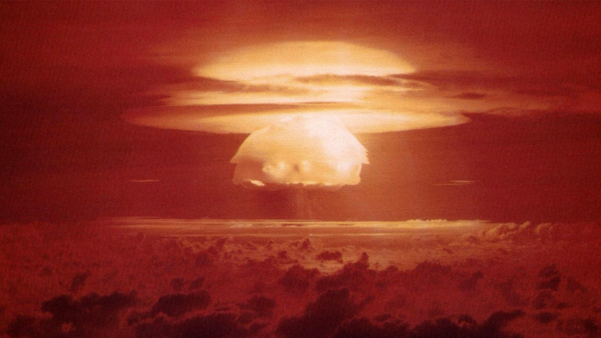 UHELL: Castle Bravo ble ved et uhell den største atomprøvesprengningen USA noen gang gjennomførte.
