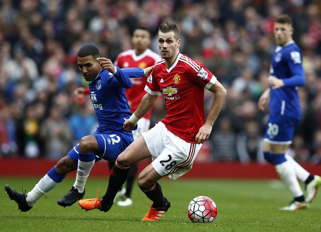 LITE SPILLETID: Morgan Schneiderlin slet med lite spilletid for Manchester United. Det har endret seg etter overgangen til Everton.