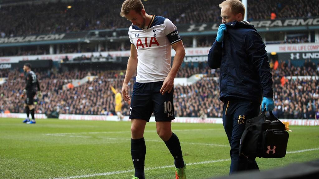SKADET: Harry Kane skadet seg i FA-cupoppgjøret mot Milwall.