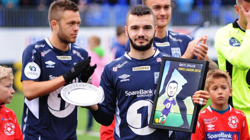 BEST: Kamer Qaka ble kåret til årets spiller i OBOS-ligaen av NTB i 2016, i det som var Kristiansunds opprykkssesong.