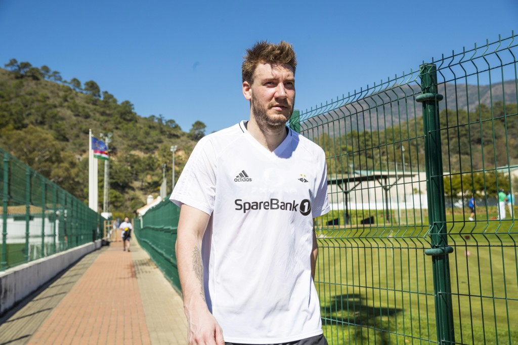 KLAR: Rosenborg nye spiss, danske Nicklas Bendtner.