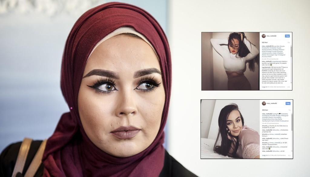 PÅ INSTAGRAM: Malika Faviano -tidligere Bayan - har kastet hijaben, og deler bilder med flere tusen Instagram-følgere. Hun får både støtte og kritikk for sitt valg.