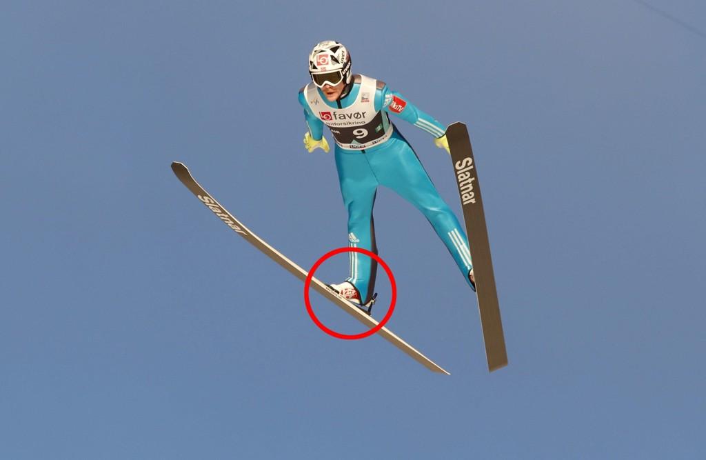 SKADET: Robert Johansson klarte å stå på 252 meter til tross for trøbbel med leggen.