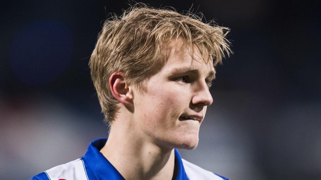 SPILTE IKKE: Martin Ødegaard kom aldri innpå da Heerenveen tapte mot Feyenoord.