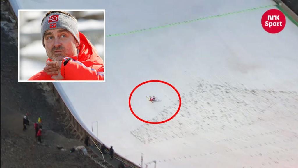 FOR LANGT UNNA? : Sportssjef Clas Brede Bråthen mener dommerne umulig kunne se fra dommertårnet om Kraft var nedpå med rumpa eller ikke da han satte verdensrekord.