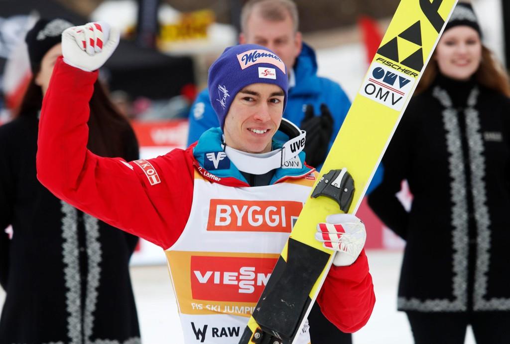 BEST OG LENGST: Stefan Kraft fra Østerrike vant satte både verdensrekord og ble beste hopper sammenlagt i nysatsingen Raw Air.