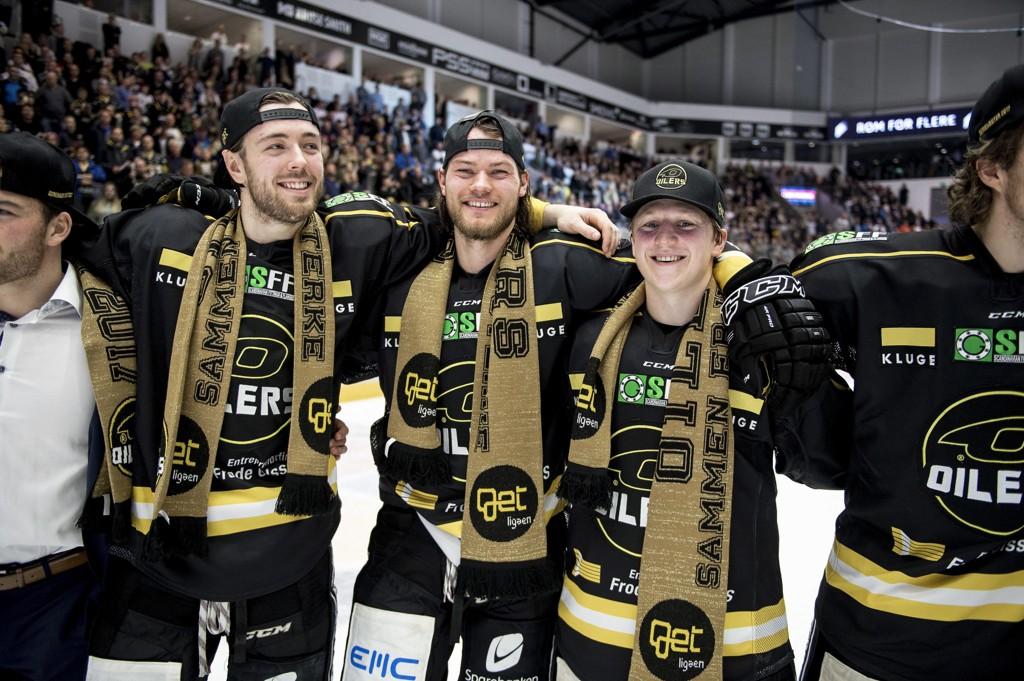 PLANKEKJØRING: Stavanger Oilers har vunnet fem av fem kamper i sluttspillet så langt.