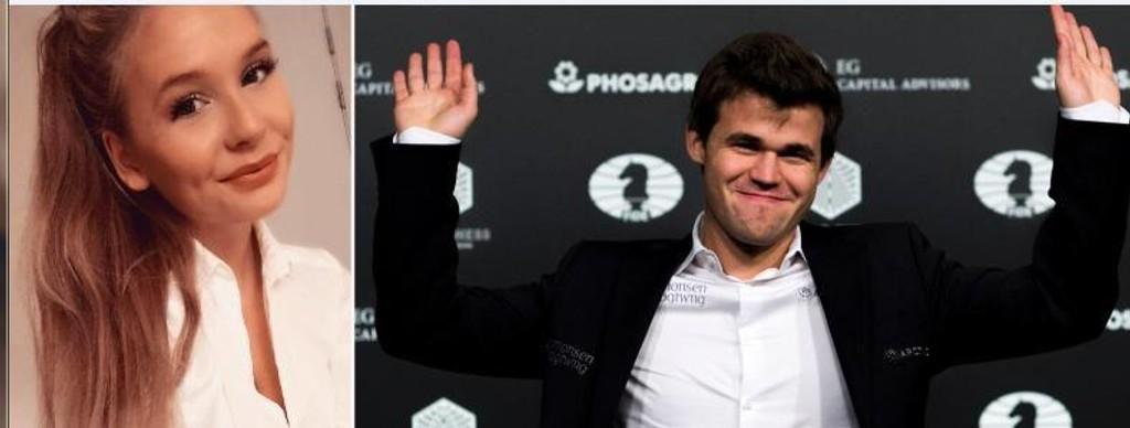 Nytt par: Synne Kristin Larsen og Magnus Carlsen har funnet tonen. Begge ønsker å holde en lav profil om det ferske forholdet.