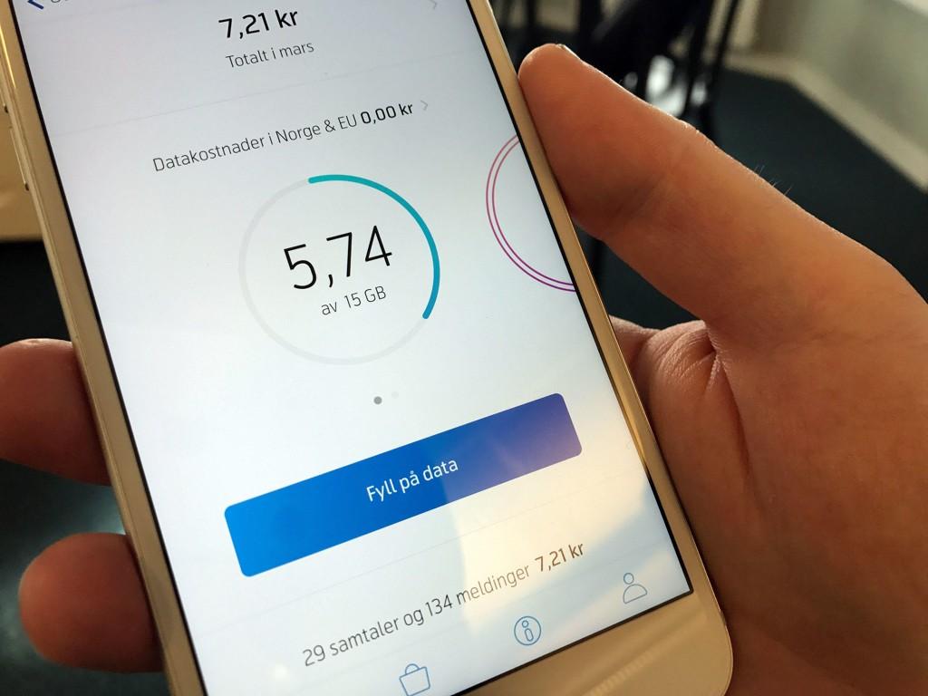 bruke data via mobiltelefon