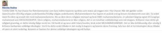 Merete Hodne Facebook