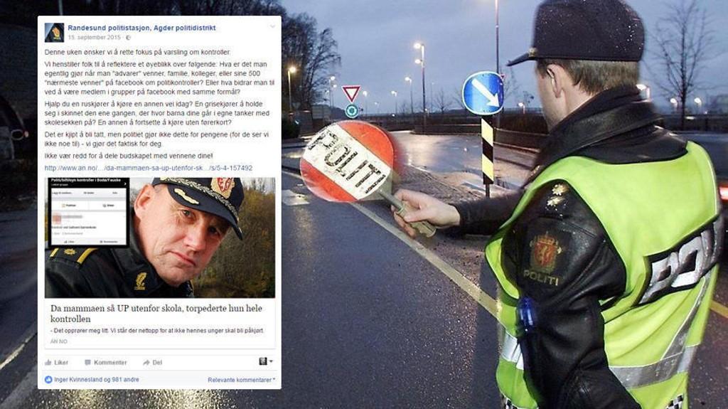 Randesund politistasjon i Agder politidistrikt har fått nok av at folk varsler om trafikkontroller og kom i kveld med en krass beskjed på sosiale medier.