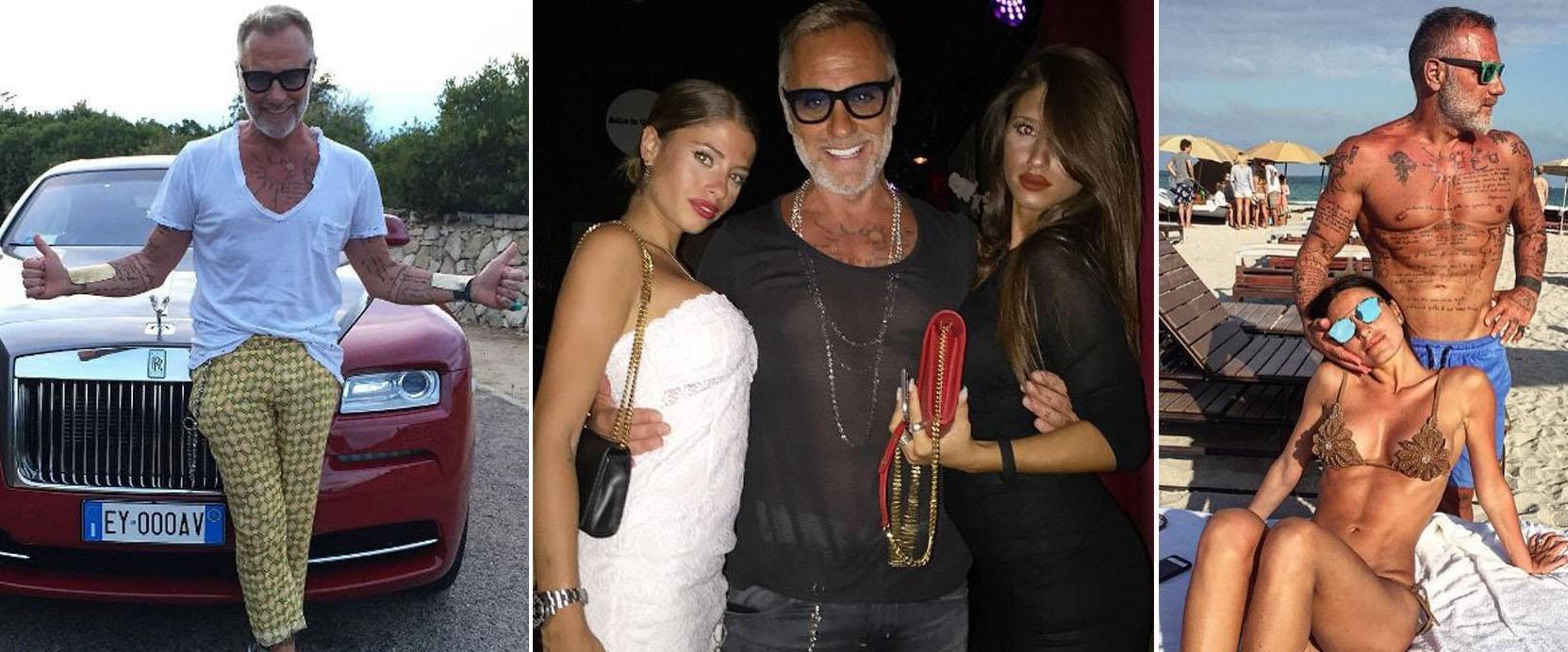 NYTER LIVET: Den 49 år gamle milliardæren Gianluca Vacchi elsker livet og deler store deler av det på Instagram.