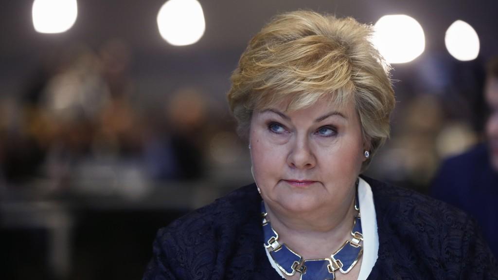 Oslo 20170309. Statsminister Erna Solberg på Høyres landsmøte torsdag. Foto: Terje Pedersen / NTB scanpix