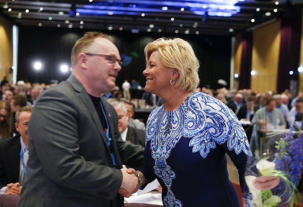 JENSEN OG SANDBERG: Fremskrittspartiets nestleder Per Sandberg og leder og leder Siv Jensen advarer mot Ap-liberalisering av innvandringspolitikken.