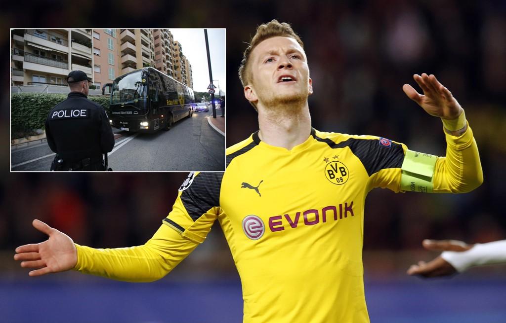 HOLDT IGJEN: Marco Reus og de andre Dortmund-spillerne ble holdt igjen av politiet i Monaco før kvartfinalen i Champions League.