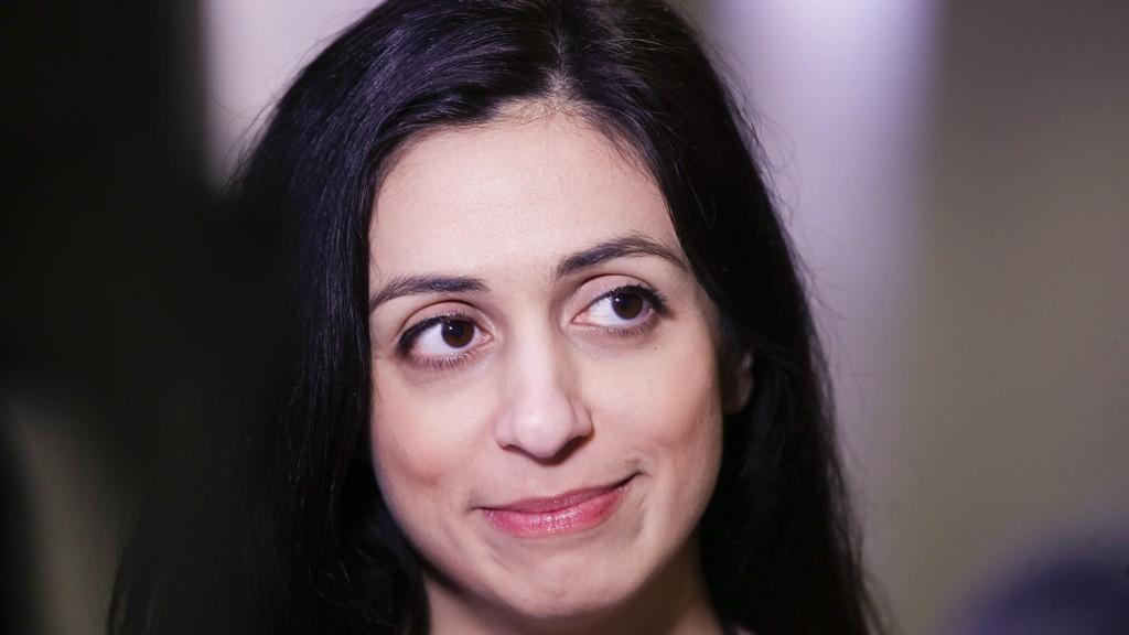 Oslo 20170207. Hadia Tajik på landsstyremøtet til Arbeiderpartiet i Folkets Hus i Oslo.