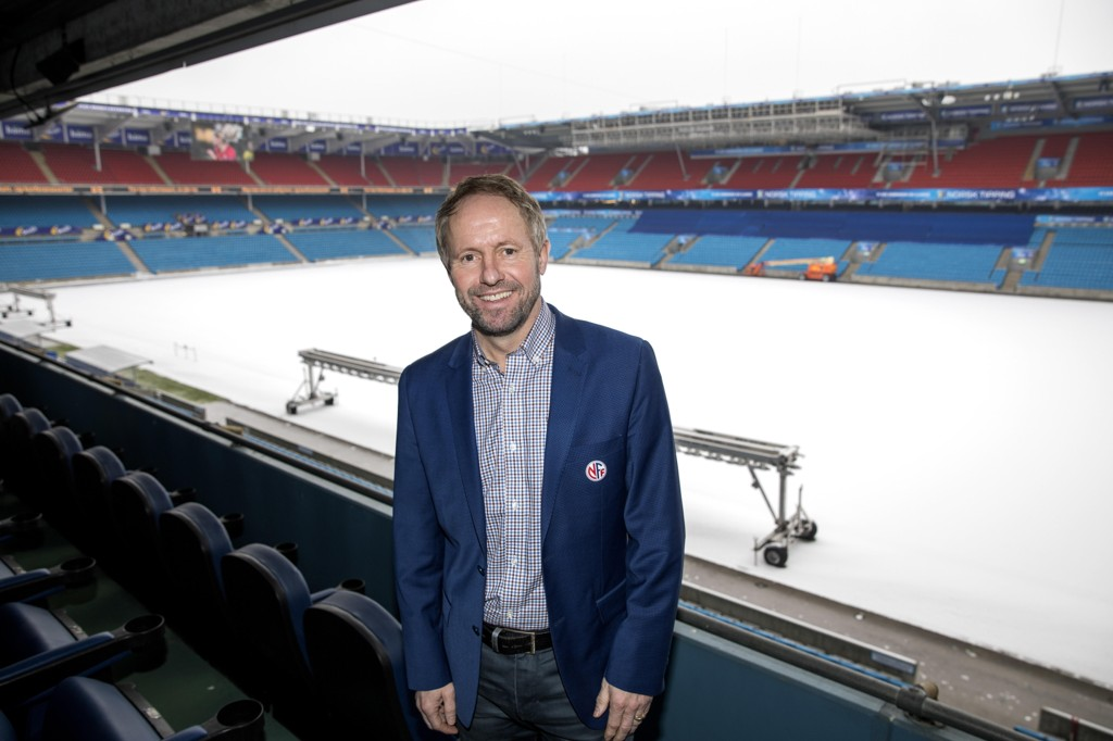STØTTER IKKE BOIKOTT. Pål Bjerketvedt og Norges Fotballforbund.