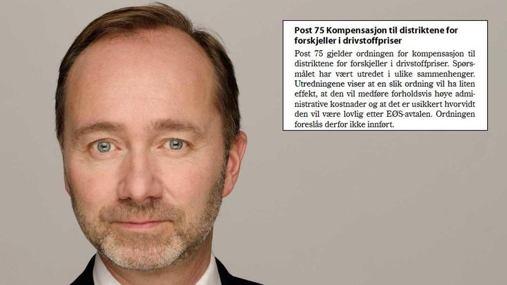 Forslaget om billig bensin i distriktene ble skrinlagt av regjeringen Trond Giske selv var med i høsten 2011.