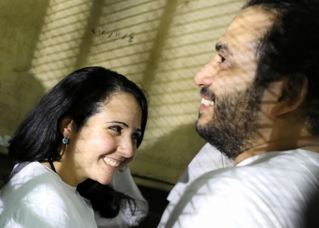 LYKKELIGE: Aya Hijazi og hennes ektemann Mohamed Hasannein jobbet for å hjelpe gatebarn i Kairo da de ble fengslet. Nå er de løslatt og tilbake på amerikansk jord.