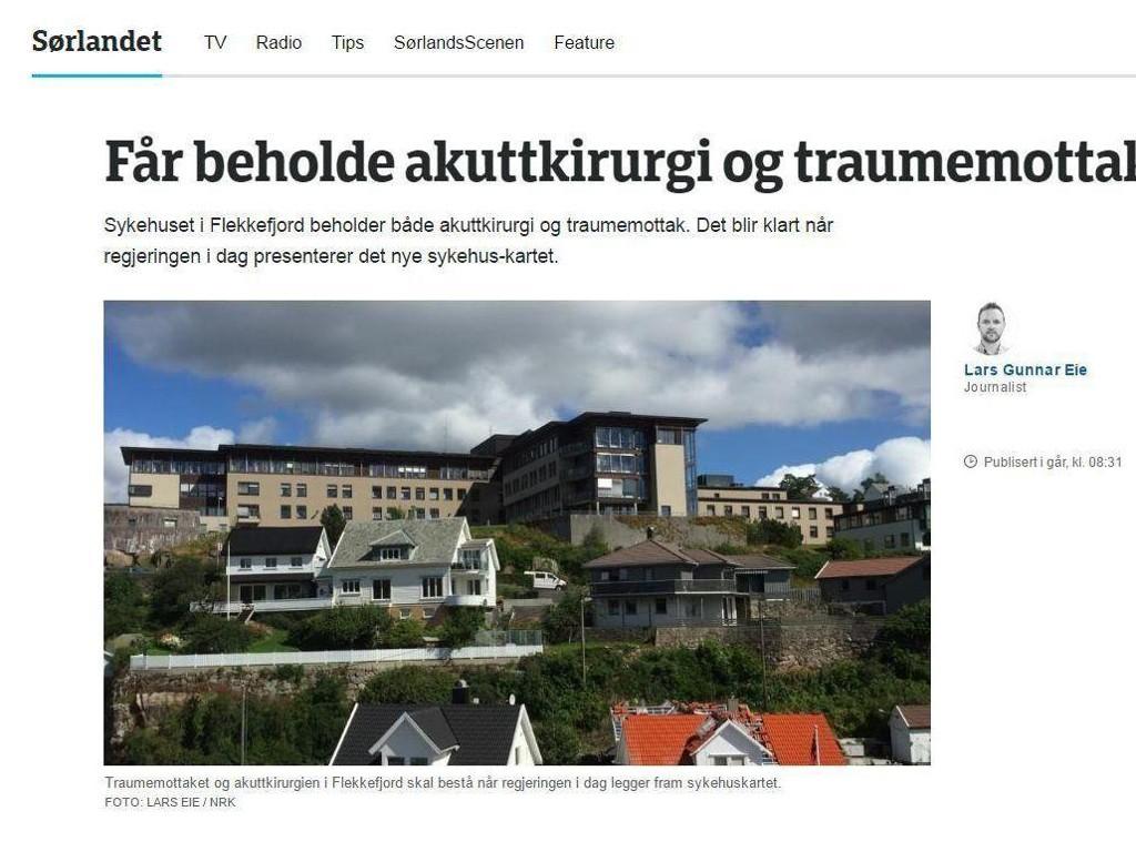 sykehuset sørlandet flekkefjord