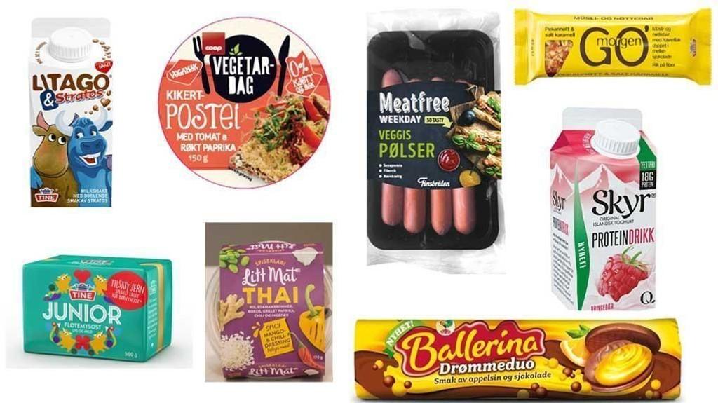 SOMMERENS NYHETER: Vegetar-pølser, liten drikkeyoghurt og milkshake med stratos er bare noen av nyhetene som skal få prøve seg i butikkhyllen.