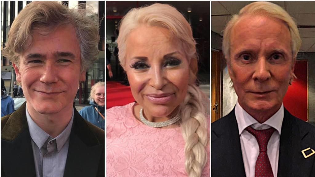 GAMLE: Slik Tarjei Sandvik Moe, Linni Meister og Petter Pilgaard ut som gamle ifølge Faceapp.