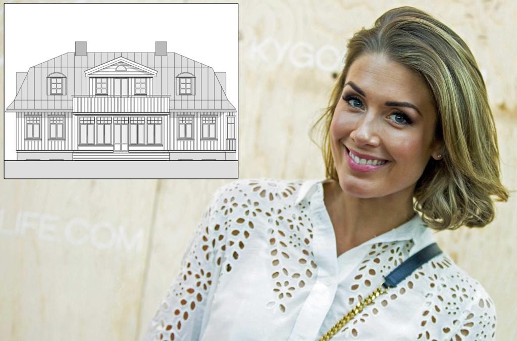 UTVIDER: Huset som ble revet var på 141 kvadratmeter. Nå vil Tone Damli Aaberge og samboeren bygge en ny villa (bildet) på over 350 kvadratmeter.