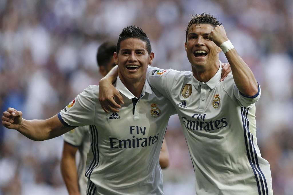 TIL UNITED? James Rodriguez skal være aktuell for en overgang til Manchester United, Cristiano Ronaldos gamle klubb.