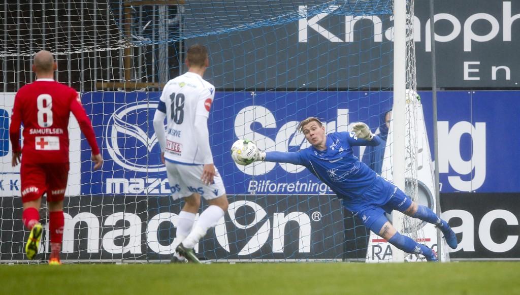 Odd scorer 1-0-målet i eliteseriekampen mot Haugesund tirsdag.