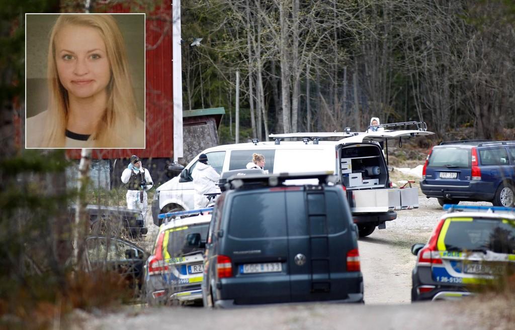 DREPT: Tova Moberg ble funnet død i en innsjø i Norrland i Sverige. Tre menn er pågrepet og siktet.