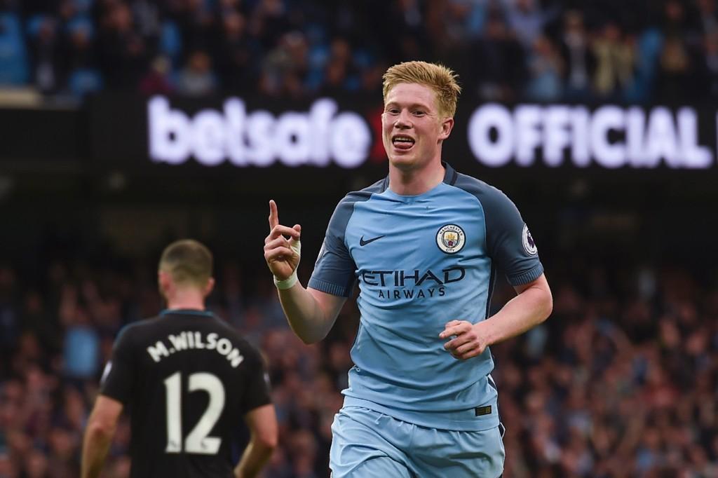 MÅL: Kevin de Bruyne satte inn 2-0 for Manchester City mot WBA.