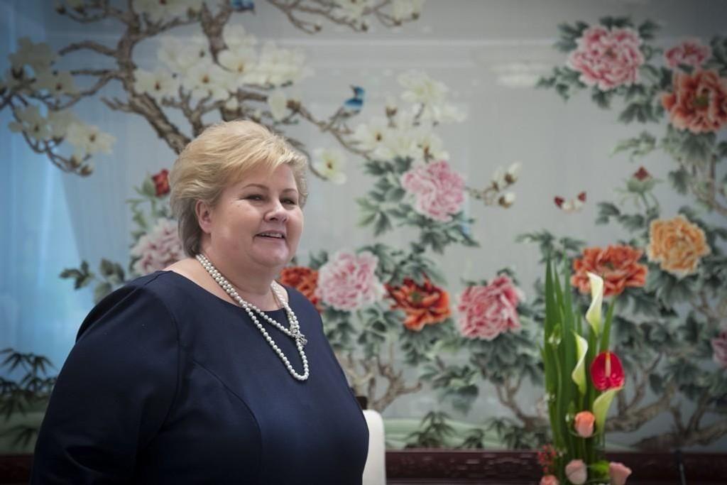 OPTIMIST: Statsminister Erna Solberg mener optimismen er på vei tilbake i norsk økonomi, og utsiktene er lysest i nord.