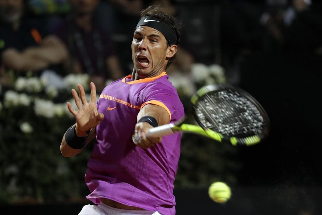 IMPONERER: Rafael Nadal var for god for Jack Sock i Roma Masters i tennis torsdag.