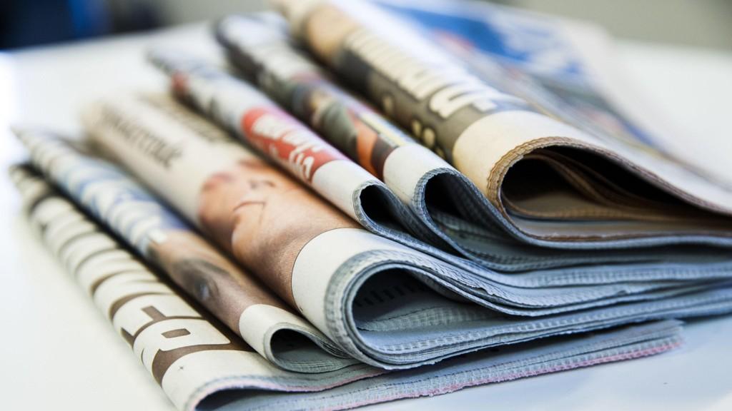 OSLO 20150924. Illustrasjonsbilde av aviser. Papiraviser.