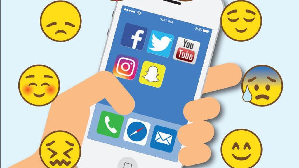 SOSIALE MEDIER PÅVIRKER HELSEN: En større britisk undersøkelse måler hvordan de ulike sosiale mediene påvirker mental helse. Se resultatene nederst i denne artikkelen.
