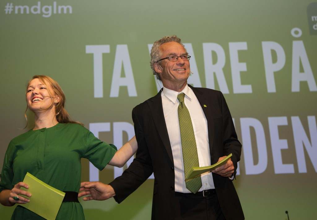 Miljøpartiet De Grønnes landsmøte på Lillehammer 2017. Une Bastholm og Rasmus Hansson åpnet landsmøtet på Scandic Lillehammer Hotel fredag ettermiddag.