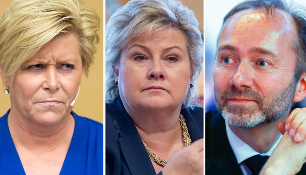 UT, UT OG UT:Siv Jensen, Erna Solberg og Trond Giske er blant stortingsrepresentantene som ville blitt nektet gjenvalg hvis forslaget til MDGs programkomité ble lov.
