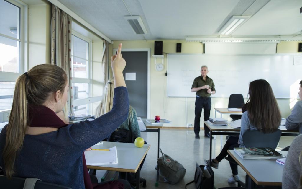 En lydfil med oppgavene til engelskeksamen for tiendeklasse lå ved en feil ute på nett dagen før eksamen for Lundehaugen ungdomsskole i Sandnes. Foto: Scanpix