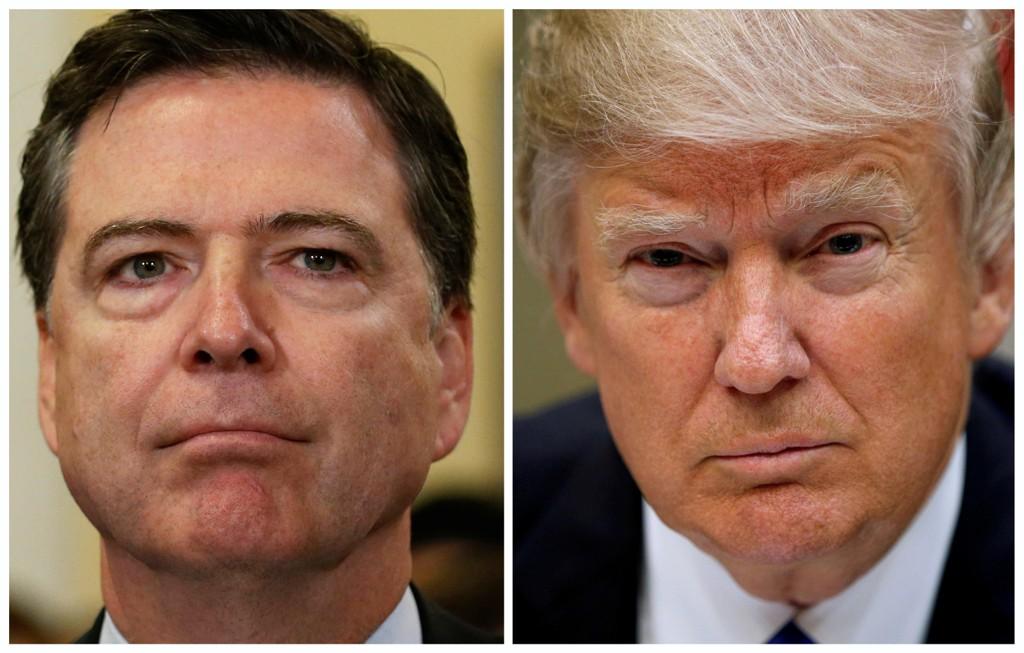 - SKRULLING: Donald Trump skal ha fortalt russere på besøk i Det hvite hus at James Comey (til venstre) var gal, og at sparkingen av FBI-sjefen lettet trykket, ifølge New York Times.