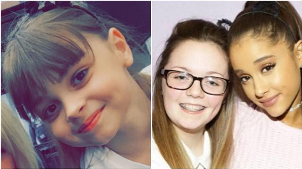 DREPT: Saffie-Rose Roussos og Georgina Callander er to av de drepte under Ariana Grande konserten i Manchester. Callander er fotografert med Grande.