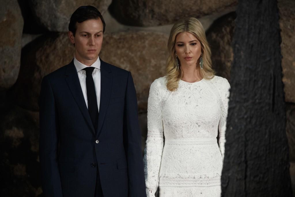 BEGGE FIKK KONTOR: Presidentens svigersønn Jared Kushner (t.v.) sammen med sin kone Ivanka Trump. Her er de på besøk i Jerusalem under en markering for holocaust-ofre. Begge har fått kontor i Det hvite hus etter at Donald Trump ble president.