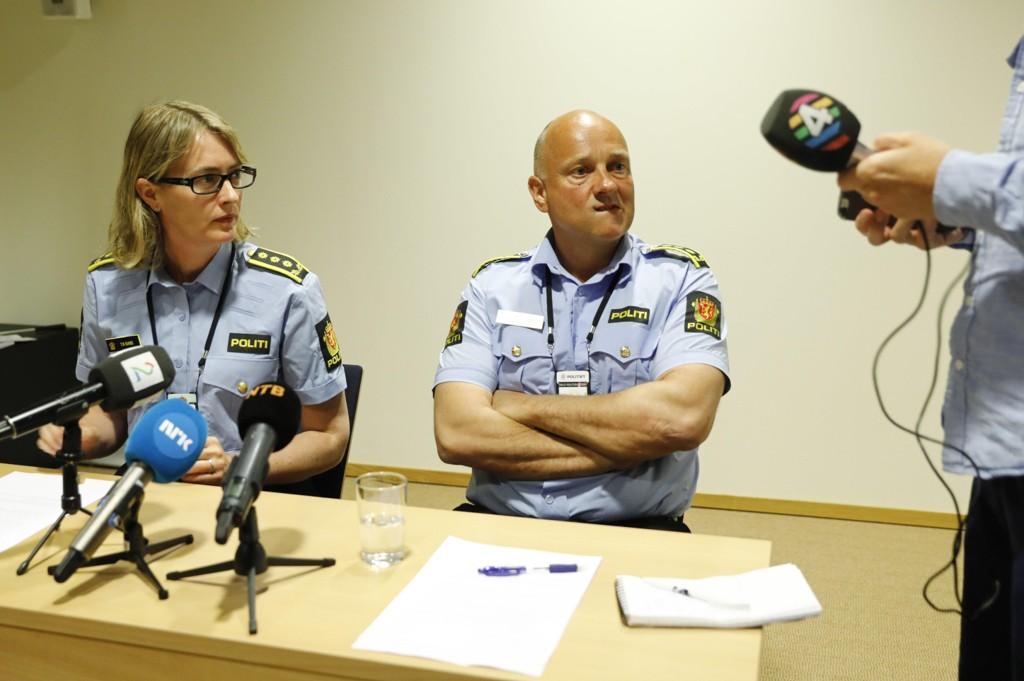 Politiet på Stovner i Oslo holdt pressekonferanse i forbindelse med uroen i bydelen dem siste tiden.