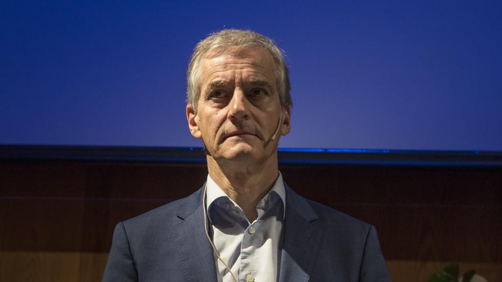 Oslo 20170502. Jonas Gahr Støre leder i Arbeiderpartiet, er tilstede på WWFs frokostseminar om et nytt havinitiativ.