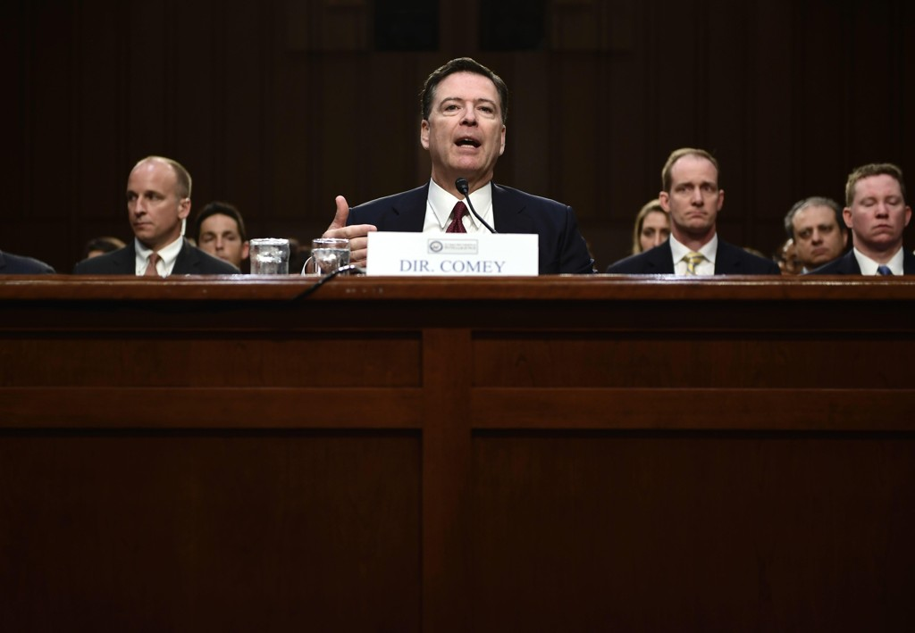 JAMES COMEY under torsdagens høring i Senatet.