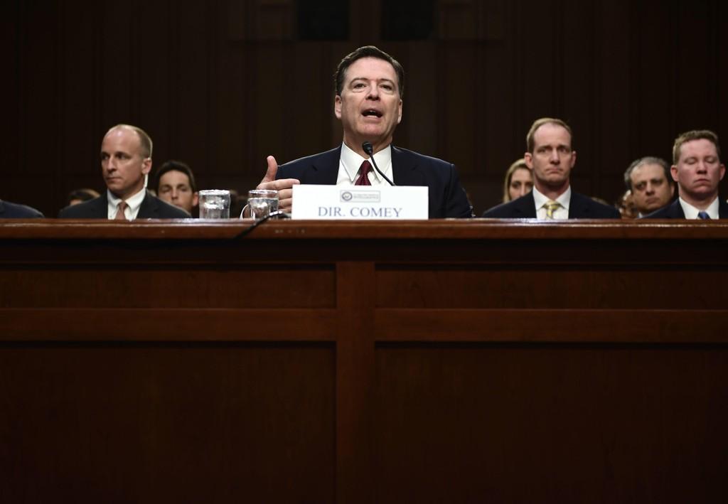 JAMES COMEY under torsdagens høring i Senatet.