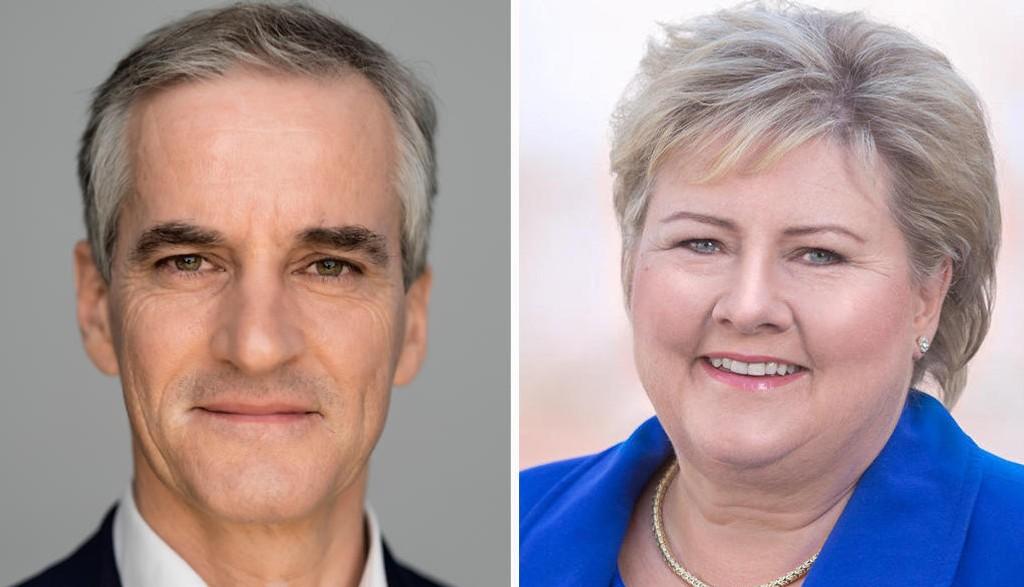 STATSMINISTERKANDIDATER: Arbeiderpartiets Jonas Gahr Støre og Høyres Erna Solberg er klare statsministerkandidater før høstens stortingsvalg.