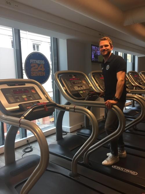 MADS ROSER sier at jenteavdelingene på Fitness24Seven er mye brukt.